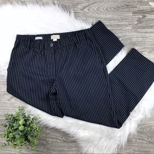LOFT Pants - Ann Taylor LOFT Navy & White Striped Crop Size 6